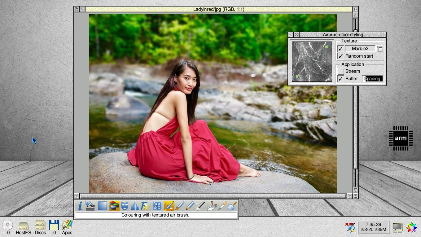 RISC OS PhotoDesk image editing